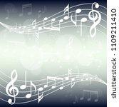 blue gradient music background...   Shutterstock .eps vector #1109211410