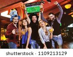 group or company of friends  ... | Shutterstock . vector #1109213129