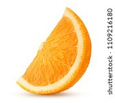 orange slice isolated on white... | Shutterstock . vector #1109216180