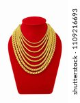 gold necklace on necklace... | Shutterstock . vector #1109216693