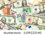some us dollar and euro... | Shutterstock . vector #1109223140