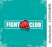 fight club vector logo with red ... | Shutterstock .eps vector #1109224898