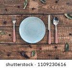 time for dinner  high angle... | Shutterstock . vector #1109230616