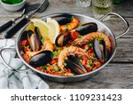 Spanish Seafood Paella With...