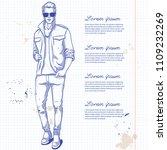 vector man model dressed in...   Shutterstock .eps vector #1109232269