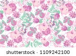 cute floral pattern in the... | Shutterstock .eps vector #1109242100