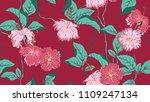 floral seamless pattern  hand...   Shutterstock .eps vector #1109247134