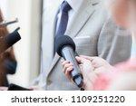 journalists making media... | Shutterstock . vector #1109251220