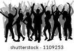 lots of people dancing   vector | Shutterstock .eps vector #1109253