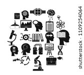 world knowledge icons set.... | Shutterstock .eps vector #1109254064