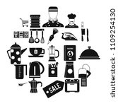 tableware icons set. simple set ... | Shutterstock .eps vector #1109254130