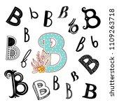 set of letter b in different... | Shutterstock .eps vector #1109263718