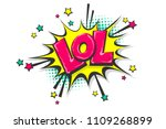 lol funny  wow comic text...   Shutterstock .eps vector #1109268899