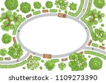 vector illustration. landscape... | Shutterstock .eps vector #1109273390