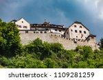 distance view at vaduz castle... | Shutterstock . vector #1109281259