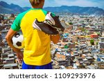 brazilian football player... | Shutterstock . vector #1109293976