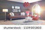 interior living room. 3d... | Shutterstock . vector #1109301803
