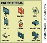 online cinema color outline...   Shutterstock .eps vector #1109302949