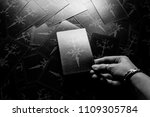 photo big dark tarot cards.... | Shutterstock . vector #1109305784