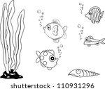 fish vector paint by illustrator | Shutterstock .eps vector #110931296