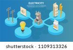 isometric electricity... | Shutterstock .eps vector #1109313326