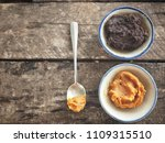 miso paste on wood background | Shutterstock . vector #1109315510