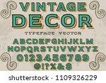 vintage font typeface vector... | Shutterstock .eps vector #1109326229