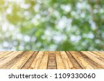 wood table top on blur abstract ...   Shutterstock . vector #1109330060