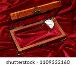a handmade mahogany casket with ...   Shutterstock . vector #1109332160
