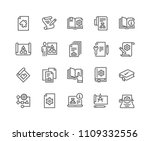 simple set of technical... | Shutterstock .eps vector #1109332556