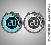 electronic digital stopwatch.... | Shutterstock .eps vector #1109335439