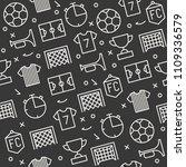 seamless pattern soccer theme ... | Shutterstock .eps vector #1109336579
