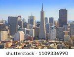 san francisco skyline. aerial... | Shutterstock . vector #1109336990