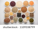 uncooked pulses grains and... | Shutterstock . vector #1109338799
