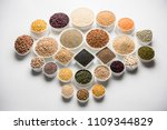 uncooked pulses grains and... | Shutterstock . vector #1109344829