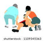 doctor rescue first aid vector... | Shutterstock .eps vector #1109345363
