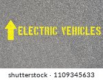 a traffic sign for electric... | Shutterstock . vector #1109345633