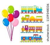 kids train vector cartoon toy... | Shutterstock .eps vector #1109348036