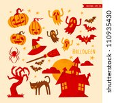 halloween | Shutterstock .eps vector #110935430