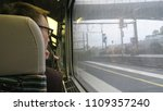 passenger in the french tgv... | Shutterstock . vector #1109357240