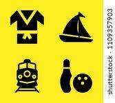 kimono  bowling  train and... | Shutterstock .eps vector #1109357903