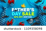 father's day sale promotion... | Shutterstock .eps vector #1109358098
