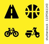 basketball  bicycle  road sign...   Shutterstock .eps vector #1109361143