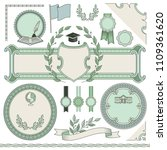 set of empty templates for... | Shutterstock .eps vector #1109361620