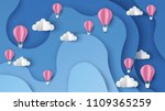 illustration of hot air... | Shutterstock .eps vector #1109365259
