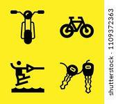 motorbike  water ski  bicycle... | Shutterstock .eps vector #1109372363