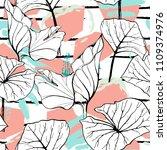 tropical  modern stripes motif. ...   Shutterstock .eps vector #1109374976