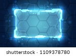 abstract interface circuit... | Shutterstock .eps vector #1109378780