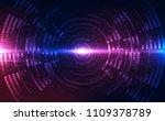 abstract futuristic digital... | Shutterstock .eps vector #1109378789