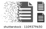 grey vector text page icon in... | Shutterstock .eps vector #1109379650